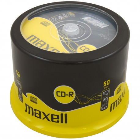 MAXELL CD-R 700MB-80MIN 52X CAKEBOX 50 li