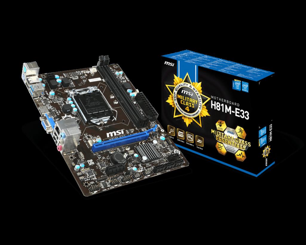 MSI H81M-E33 SC-1150,H81,SES,DDR3 VGA,HDMI