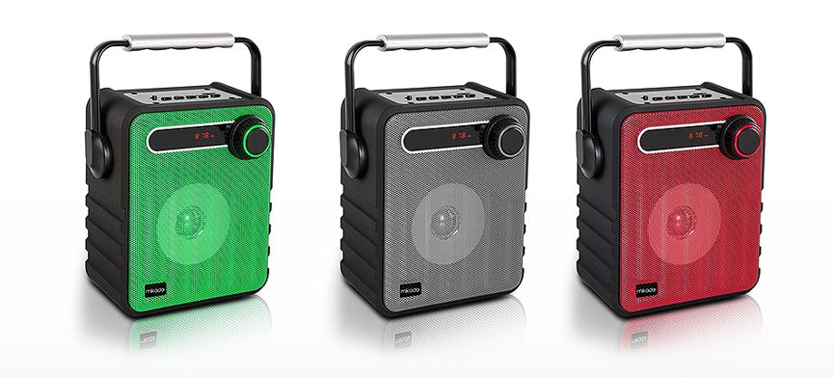 MIKADO MD-1437 3W Siyah/Kırmızı Usb-TF-Fm Destekli Bluetooth Tasinabilir Speaker
