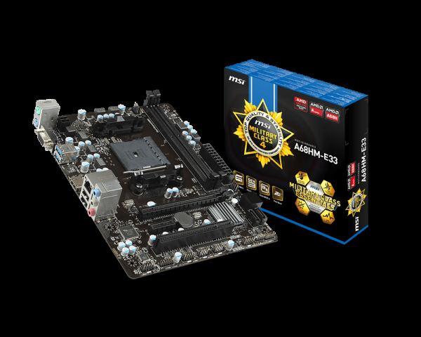 MSI A68HM-E33 V2 Soket FM2+ DDR3 2133MHz(O.C) VGA&HDMI Anakart