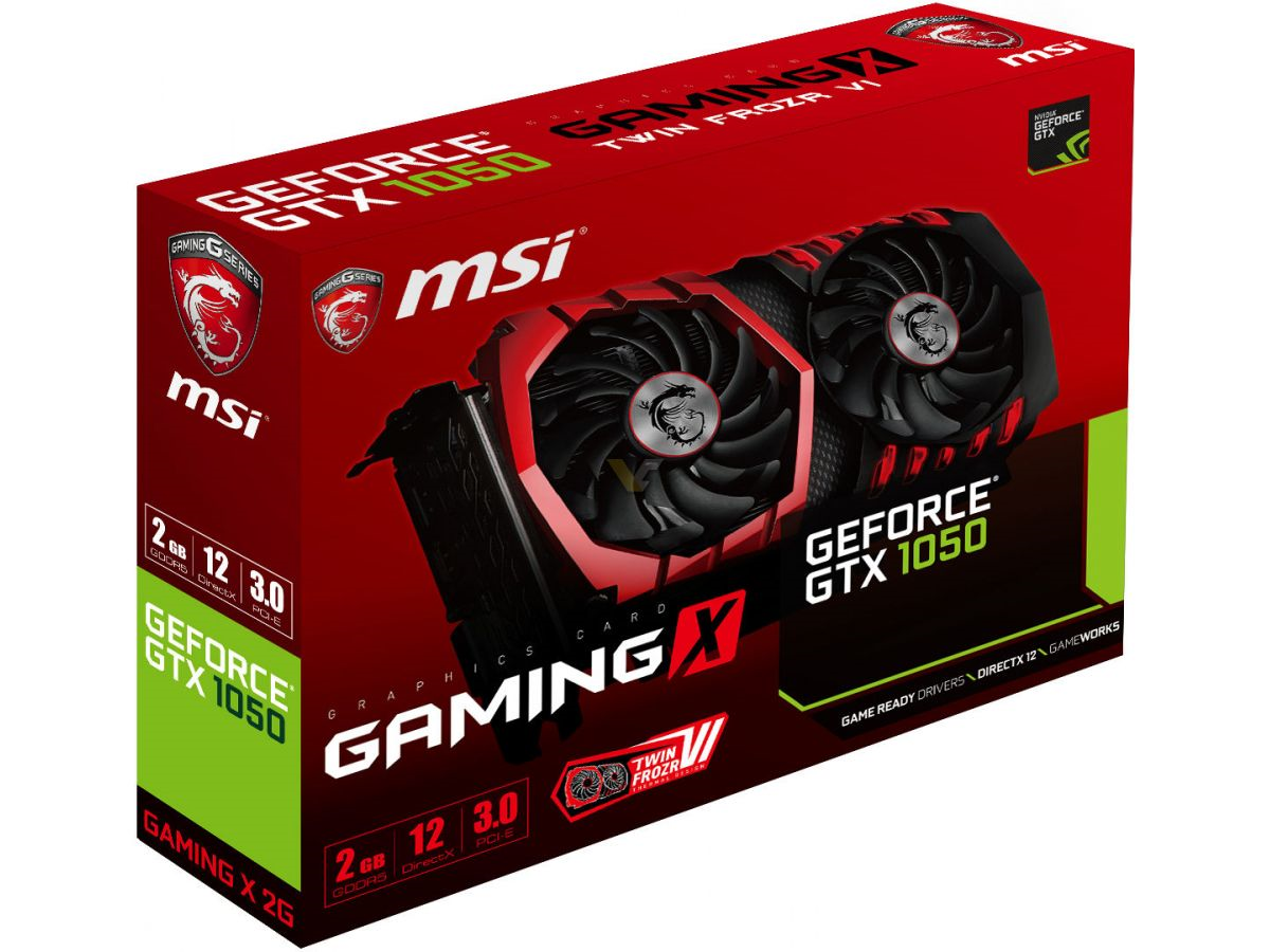 MSI GeForce GTX1050 GAMING 2GB GDDR5 128Bit Nvidia DX12 Ekran Kartı