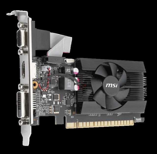 MSI GT 710 1GD3 LP 1GB DDR3 64Bit HDMI 16x  Ekran Kartı