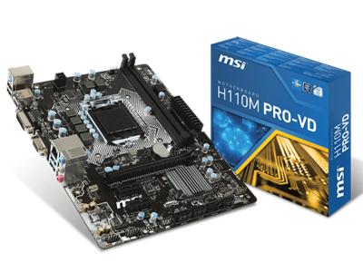 MSI H110M PRO-VD Intel H110 Soket 1151 DDR4 2133Mhz VGA&DVI ANAKART