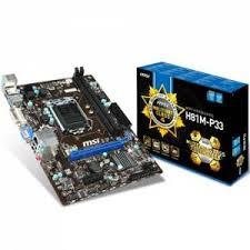 MSI H81M-P33 Intel H81 Soket 1150 DDR3 1600MHz SATA 3.0 DVI&VGA