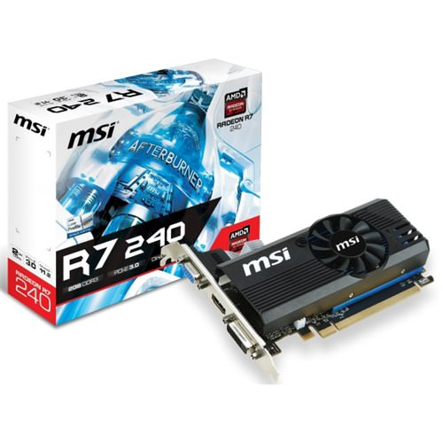 MSI R7 240 2GD3 LPV1 2GB 128Bit DDR3 DVI HDMI VGA