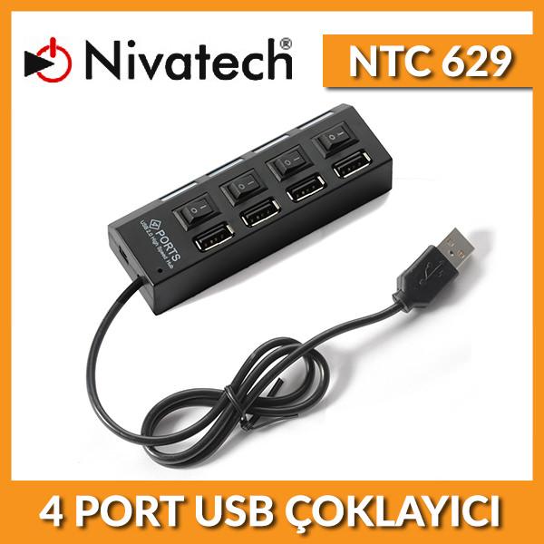 NIVATECH Ntc 629 4 Port Usb Çoklayıcı