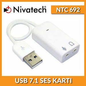 NIVATECH Ntc 692 Usb 7+1 Ses Kartı