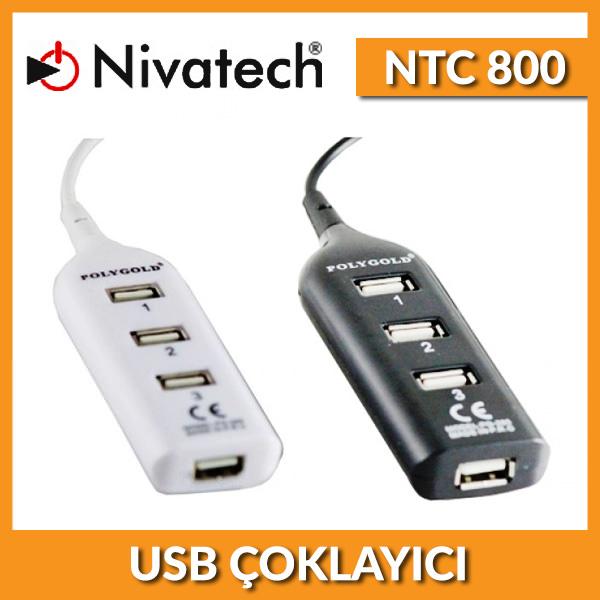 NTC-800 Nivatech 4 Port Kablolu USB HUB