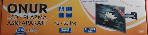"ONUR LCD PLAZMA 444 ASKI AP. 42""/65""(42-444)"
