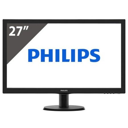 "PHILIPS 27"" 273V5LHAB 1ms HDMI,DVI-D,MM,Siyah LED 300 cd/m², VESA, Dahili Hoparlörler: 2W x 2 Monitor"