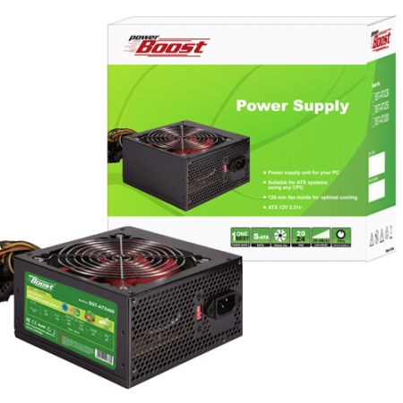 POWER BOOST 400w Güç Kaynağı (JPSU-BST-ATX400R) POWER SUPPLY