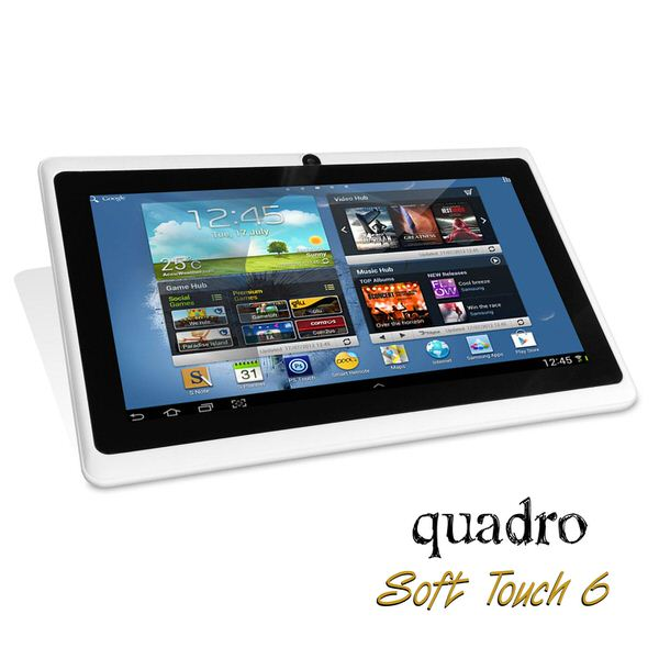 "QUADRO SoftTouch 9 A33 1.33ghz 1G 8GB Wi-Fi & Bluetooth Android 9"" Dual Cam Beyaz Tablet Pc"