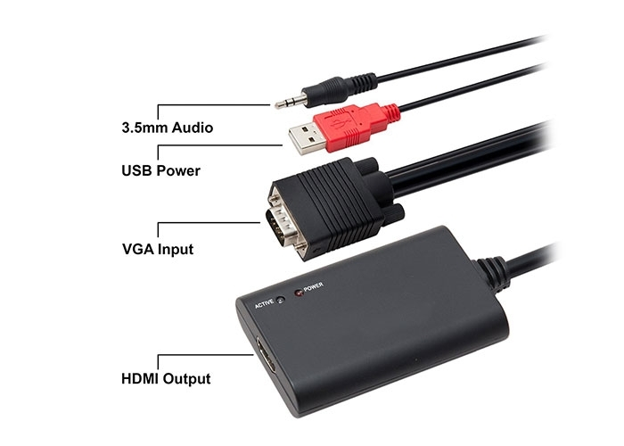 S-LINK SL-VHC20 VGA To HDMI Çevirici Kablo