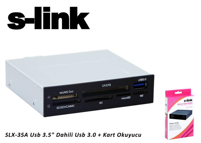 "S-link SLX-35A Usb 3.5"" Dahili Usb 3.0 + Kart Okuyucu"