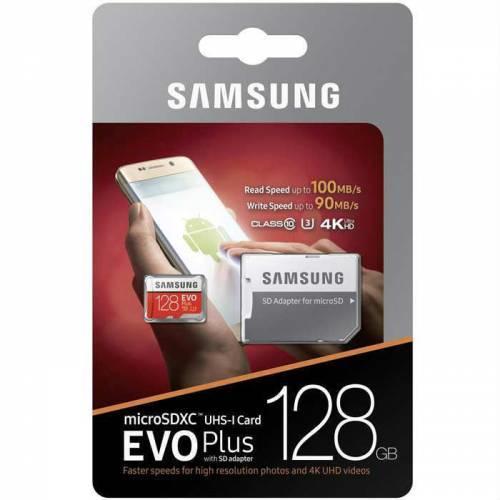 SAMSUNG Evo Plus 128GB Microsd Hafıza Kartı MB-MC128GA/TR