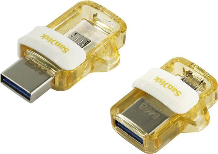 SANDISK 64GB Dual Drive Gold Usb3 SDDD3-064G-G46GW