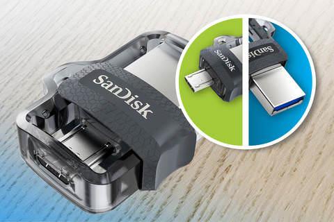 SANDİSK Dual Drive 16GB M3.0 USB Bellek SDDD3-016G-G46
