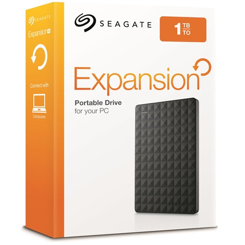 "SEAGATE 1TB 2.5"" USB 3.0 STEA1000400 EXPANSION PORTABLE SIYAH HARDDİSK"