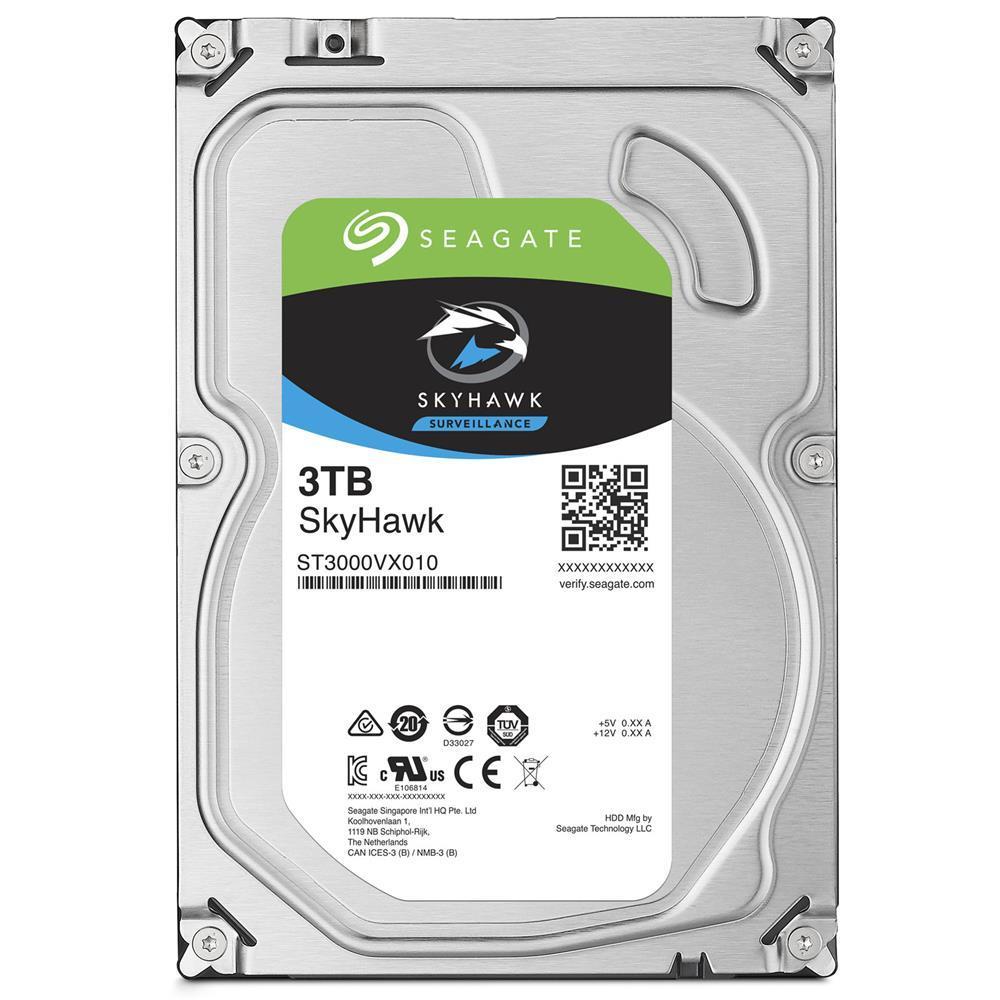 SEAGATE SkyHawk 3TB Surveillance Hard Drive - SATA 6Gb/s 64MB Cache 3.5-Inch Internal Drive (ST3000VX010)