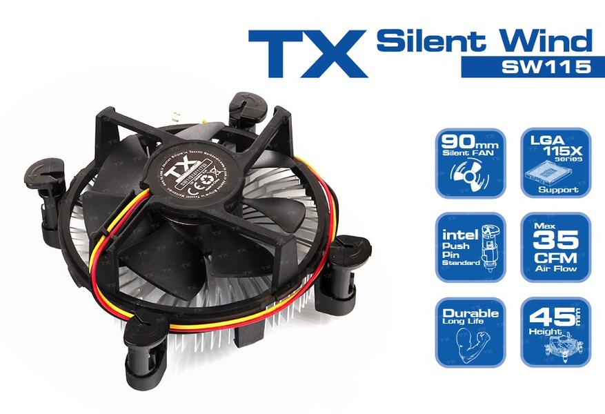 SILENT TX Intel LGA775/1155/1156/1150/1151 Uyumlu İşlemci Soğutucu