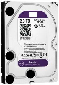 WD WD20PURX 2TB Purple 3.5inc Sata3 Sabit Disk - Sata3 64Mb 6Gbit/s 7/24 Video Kayıt