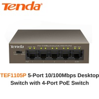 TENDA TEF1105P 5 PORT 10/100 4PORT POE SWITCH