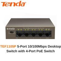 TENDA TEF1105P 5 PORT 10/100 4PORT POE SWITCH