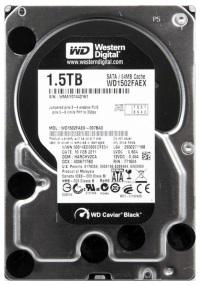 WD BLACK 1.5TB (1500GB) 64MB SATA3 7200RPM WD1502FAEX  Yenileme PC HARD DİSK