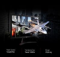 23.6 LG 24GL600F-B HDMI,DP,144Hz 1MS Led Monitor