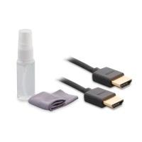 S-link SLX-373 HDMI M/M 3mt Temizleme Sprey + Micro Fiber 1.4 Ver. 3D + HDMI Kablo Set  3 metre hdmı kablo