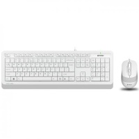 A4 Tech F1010 BEYAZ USB Klavye Mouse Set