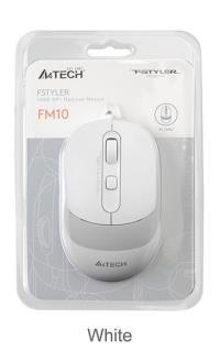 A4 TECH FM10 USB FSTYLER BEYAZ OPTİK 1600DP KABLOLU USB MOUSE