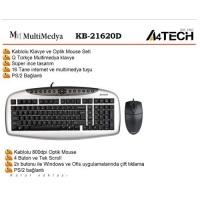 A4 TECH KB-21620D GÜMÜŞ SİYAH Q TR PS/2 KABLOLU KLAVYE MOUSE SET