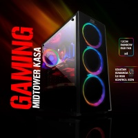 BOOST VK-G3902S 600W 80+ USB3.0  TEMPERAD RGB FULL SİYAH KASA