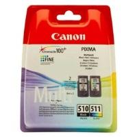 CANON PG-510/CL-511 Siyah ve Renkli Kartuş Multi Pack MP240 MP260 MP270 MP272 MP490 MX320 MX330