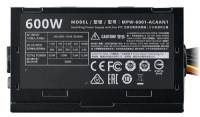 COOLER MPW-6001-ACABN1  MASTER Elite V3 600W  Aktif PFC 120mm Fanlı PSU Power Supply