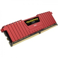 CORSAIR VENGEANCE LPX RED 8GB 2400Mhz DDR4 CL16 Pc Ram CMK8GX4M1A2400C16R