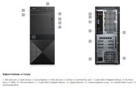 DELL Vostro 3670 I3 8100/4GB/1TB/ N204VD3670BTO_UBU FREDOS 10TB