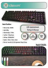 DEXIM DKA004 KBL322 RGB Gaming Klavye