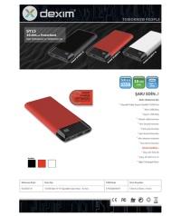 Dexim SY15 Led Ekranlı Hızlı 10.000mAh Powerbank Kırmızı  DCA0027-R