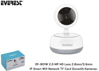 Everest DF-801W 2.0 MP HD Lens 2.8mm/3.6mm IP Smart Wifi Network TF Card Güvenlik Kamerası