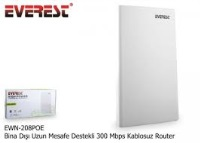 EVEREST Ewn-208Poe Bina Dışı Uzun Mesafe Destekli 2.4Ghz