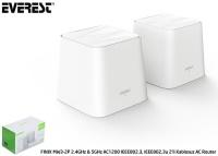 EVEREST FINIX MW3-2P 2.4GHz & 5GHz AC1200 IEEE802.3, IEEE802.3u 2'li Mesh Kablosuz AC Router