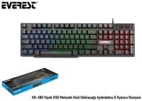 Everest KB-X88 Siyah USB Mekanik Hisli Gökkuşağı Aydın. Q KLAVYE