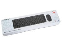 Everest KM-220 Siyah/Kırmızı Kablosuz Q Multimedia Klavye + Mouse Set
