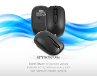 Everest PRESTY KM-62 Siyah Kablosuz Q Multimedia Klavye + Mouse Set