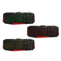 Everest Rampage KB-RX7 ALPOR Kırmızı USB 3 Renk Aydınlatmalı Q Gaming Klavye
