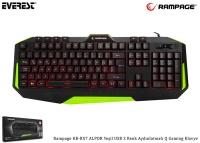 Everest Rampage KB-RX7 ALPOR Yeşil USB 3 Renk Aydınlatmalı Q Gaming Klavye
