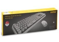 EVEREST ROUND KM-6282 Beyaz Kablosuz Q Multimedia Klavye + Mouse Set