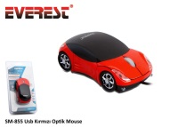 EVEREST SM-855 USB KIRMIZI ARABA Optik MOUSE